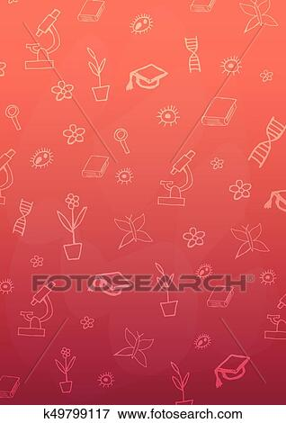 Biology Subject Back To School Background Education Banner Clip Art K49799117 Fotosearch
