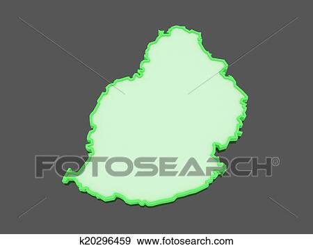 Stock Illustration of Map of Mauritius. k20296459 - Search Vector ...