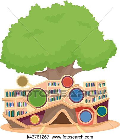clip art of modern tree house library k43761267 search clipart rh fotosearch com tree house clip art black and white tree house clip art transparent