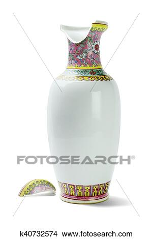Stock Photo Of Broken Chinese Ceramic Vase K40732574 Search Stock