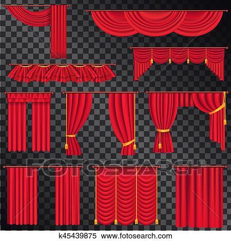 clipart cortinas rojas para teatros coleccin en negro - Cortinas Rojas