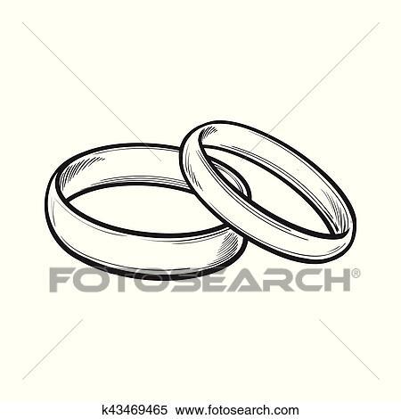 Clipart Paar Von Traditionelle Hochzeit Ringe Fur Braut