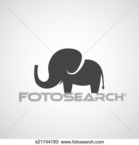 Éléphant, symbole clipart | k21744193 | fotosearch