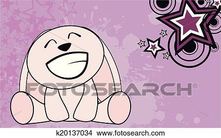 Bunny Cute Cartoon Baby Wallpaper In Vector Format