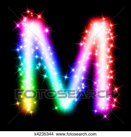 drawings of colorful alphabet letter m k4235344 search clip art