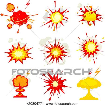 clipart of explosion blast or bomb bang fire k20804771 search rh fotosearch com blast clipart free blast clipart