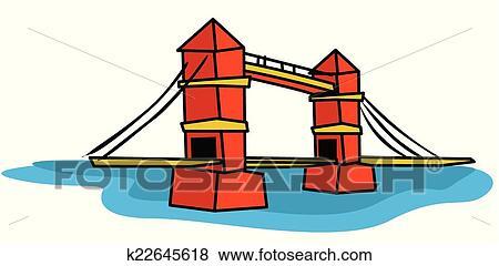 Clip Art Of London Bridge K22645618 Search Clipart Illustration