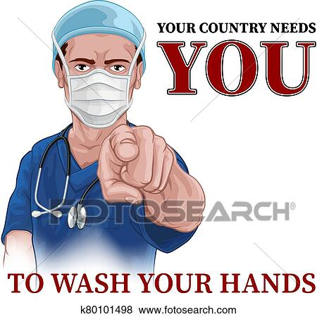 Nurse Doctor Pointing Your Country Needs You Clip Art ...