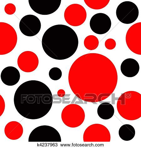 drawing of red and black polka dot seamless background k4237963 rh fotosearch com free polka dot background clipart