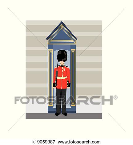 Clip art of royal british guardsman holding a rifle k19059387 clip art royal british guardsman holding a rifle fotosearch search clipart illustration publicscrutiny Choice Image