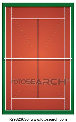 Clipart of Top view of tennis court k29323630 - Search Clip Art ...