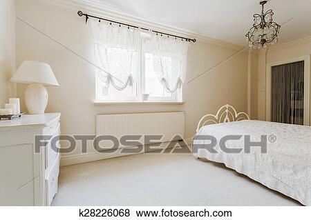 Élégant, Romantique, Chambre à Coucher, Intérieur, Dans, Couleurs Pastel