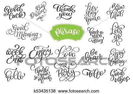 Clip Art - conjunto, frase, de, vector, inspirador, y, de motivación ...