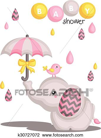 Clipart Of Elephant Baby Shower K30727072 Search Clip Art