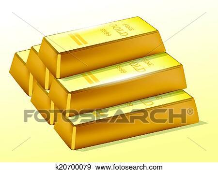 Clip Art Of Gold Bars K20700079