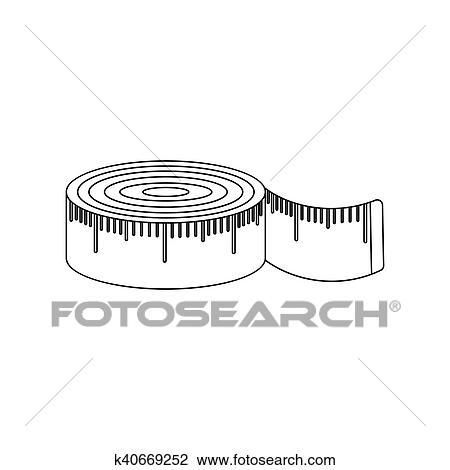 Mètre Ruban Icône De Rastr Illustration Pour Toile Et Mobile Dessin K40669252 Fotosearch