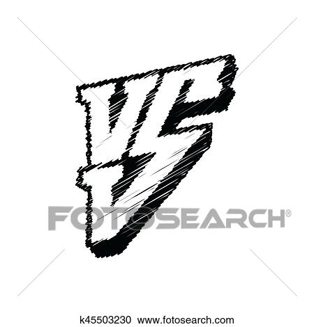 Symbol Competition Vs Vector Illustration Versus Logo Isolated On