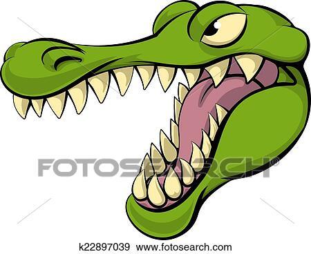 Alligator ou crocodile dessin anim caract re clipart k22897039 fotosearch - Dessin anime crocodile ...