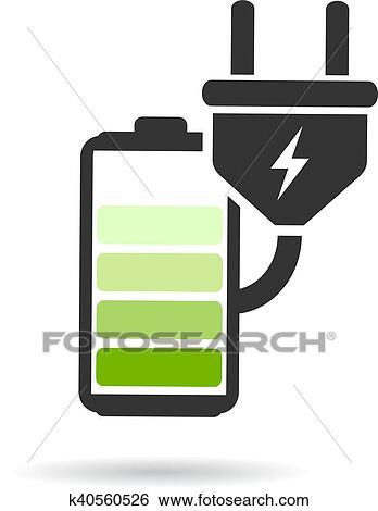 Clip Art - batterie, laden, symbol k40560526 - Suche Clipart, Poster ...