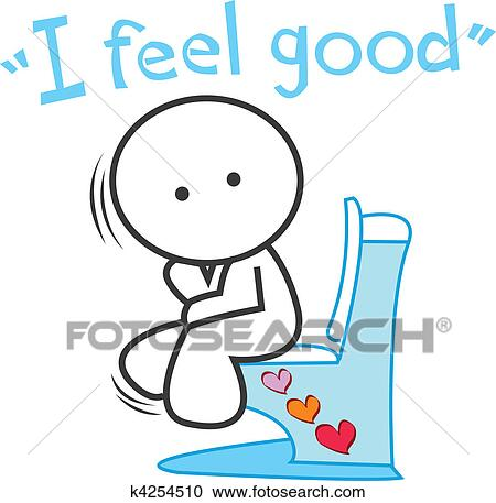 Cartoon I Feel Good Clipart K4254510 Fotosearch