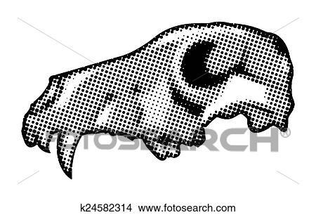 clipart of halloween halftone animal skull k24582314 search clip