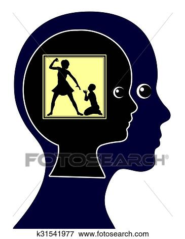 Impact of Physical Child Abuse Stock Illustration ...