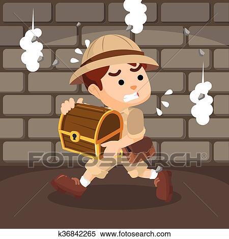 Bambino esploratore vettoriali illustrazioni e clipart