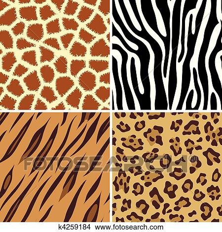 clipart of seamless animal print k4259184 search clip art rh fotosearch com animal print numbers clipart wild animal print clipart
