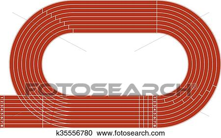 clipart of stadium running track k35556780 search clip. Black Bedroom Furniture Sets. Home Design Ideas