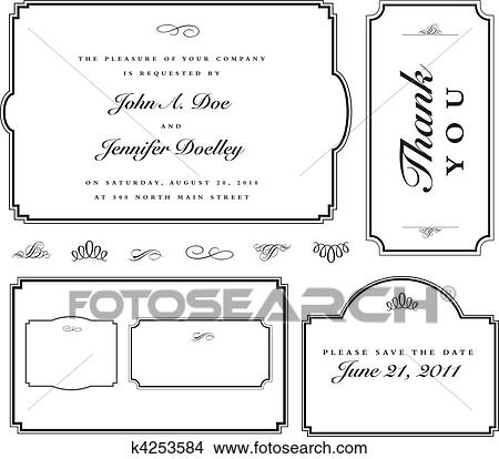Clipart of Vector Simple Matching Frame Set k4253584 - Search Clip ...