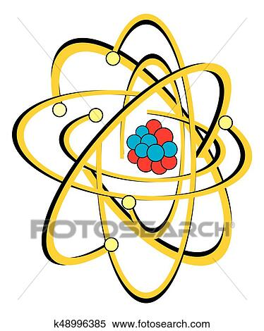 99 Carbon Atom Bohr Model With Proton Neutron And Electron 3d Stock