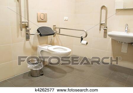 Beeld - badkamer, voor, invalide, mensen k4262577 - Zoek Stock ...