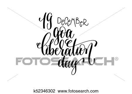 clipart of goa liberation day hand lettering congratulation