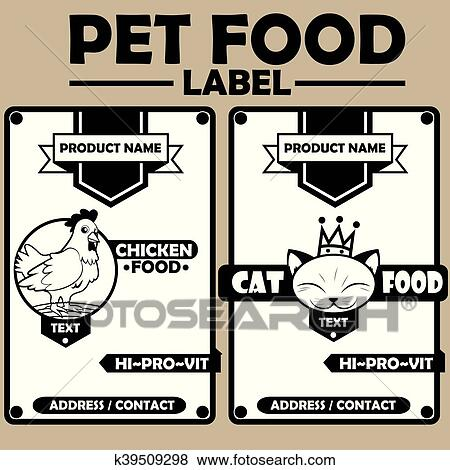 Clip Art Of Pet Food Labeleps K39509298 Search Clipart