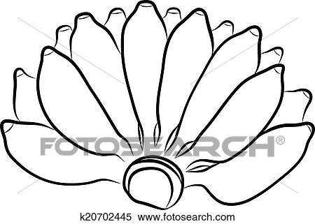 Clipart Of Hand Drawing Banana K20702445