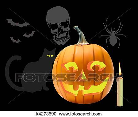 Halloween Stuff clip art   Etsy
