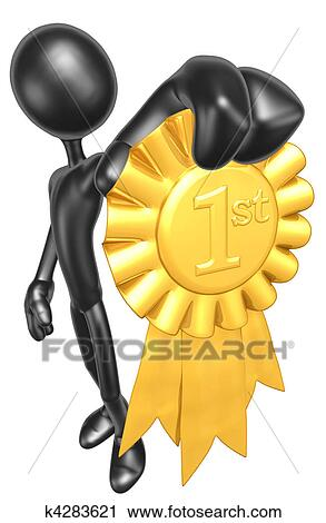 clipart of 1st place gold ribbon award k4283621 search clip art