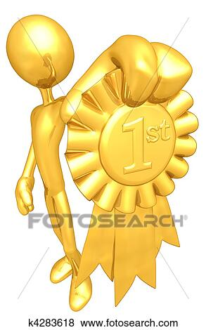 stock illustration of 1st place gold ribbon award k4283618 search