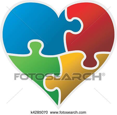 Clipart colorito puzzle cuore k4285070 cerca clipart for Clipart cuore