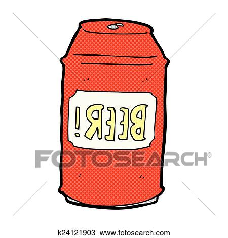 clipart of comic cartoon beer can k24121903 search clip art rh fotosearch com beer can pictures clip art 6 Pack Beer Clip Art