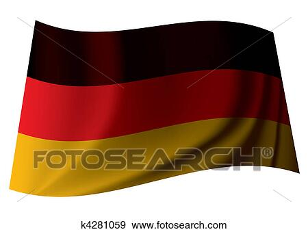 clip art of german flag k4281059 search clipart illustration
