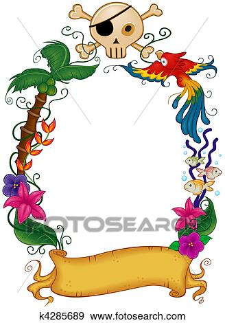 Stock Illustration Of Pirate Frame K4285689 Search Vector Clipart