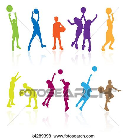 clip art of silhouettes of children jumping k4289398 search rh fotosearch com clipart jumping rope jumping clipart animated
