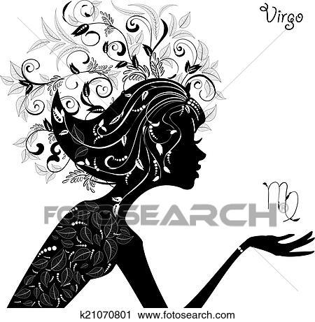 Zodiac Sign Virgo Fashion Girl Clipart K21070801 Fotosearch
