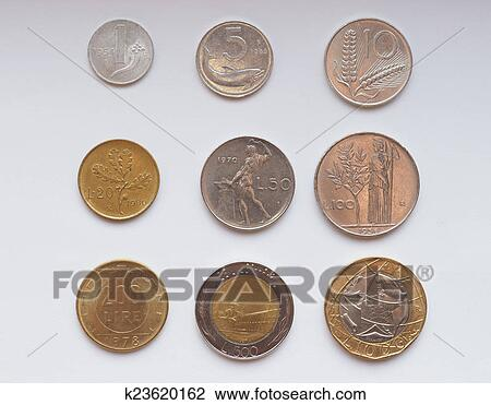 Stock Photo Italian Lira Coin Fotosearch Search Photography Print Pictures