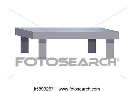 Rectangular Coffee Table Vector Illustration Clipart K58992671