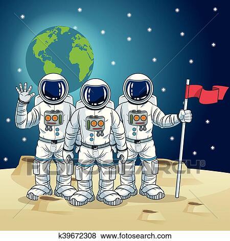 Astronauta spazio cartone animato disegno clip art k