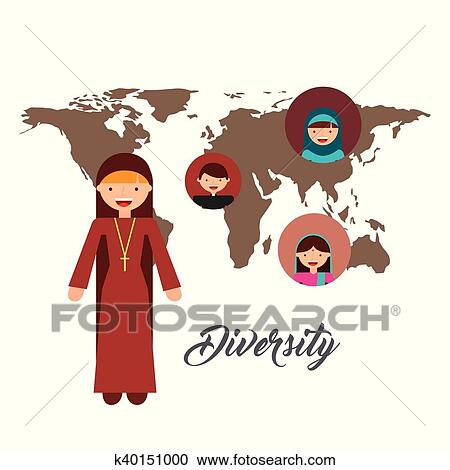 Clipart of diversity of world cultures k40151000 search clip art clipart diversity of world cultures fotosearch search clip art illustration murals publicscrutiny Choice Image