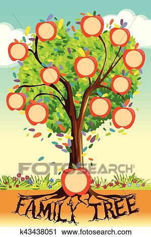 Clipart Of Family Tree Template K43438051 Search Clip Art