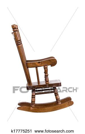 Outstanding Old Wooden Rocking Chair Stock Image K17775251 Fotosearch Ncnpc Chair Design For Home Ncnpcorg